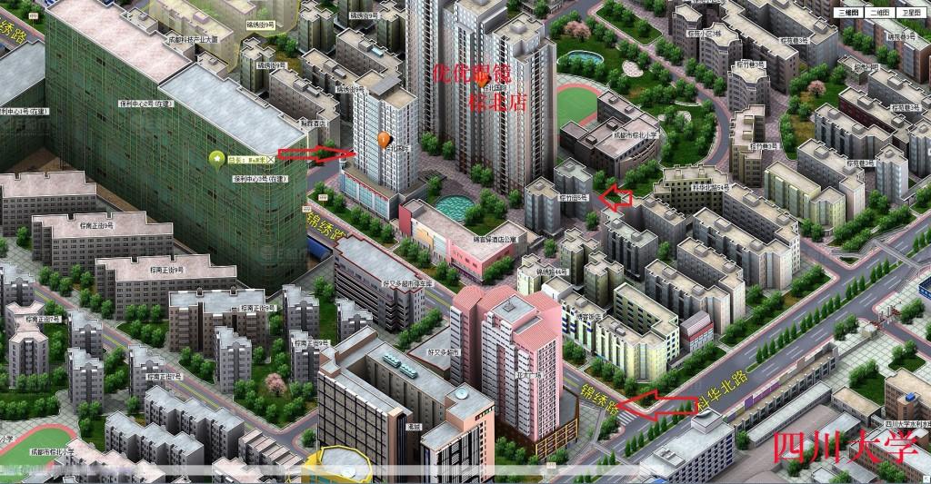 川大棕北店地图